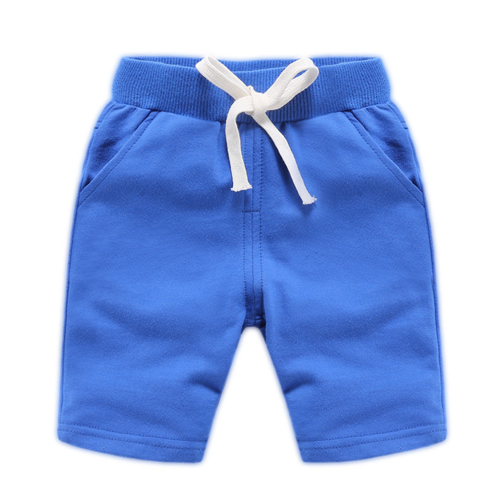 Toddler Boys Girls Knit Shorts Elastic Waistband Casual Pull-On Shorts