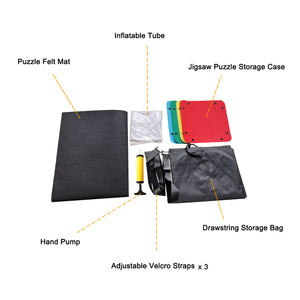 Jigsaw Puzzle Roll Mat Up to 1500 Pieces With Drawstring Storage Bag