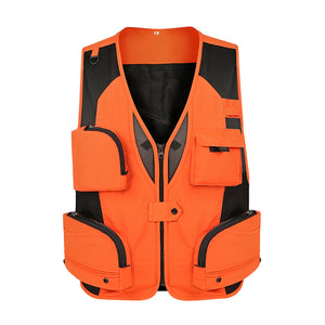 Men Fishing Vest Waterproof Mesh Waistcoat Multi Pockets Outdoor Gilet