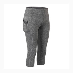 Women High Waist Capris Workout Legging with Pockets