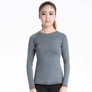 Women's Athletic Compression Shirt Long Sleeve Basic T Shirt Tee