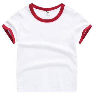Baby Boys Girls Cotton Tees Summer Color Block Short Sleeve T Shirts