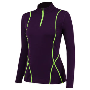 Women Thermal Tops Long Sleeve Quick-dry Breathable Workout Running Compression Shirts