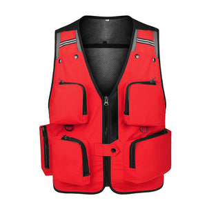 Mens Fishing Vest Multipockets Adjustable Gilet Photography Waistcoats