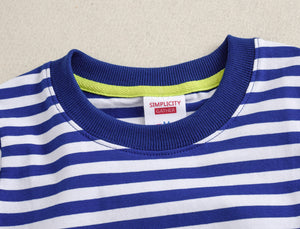 Women Striped T Shirts Cotton Pack Summer Casual Short Sleeve Tees