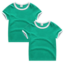 Load image into Gallery viewer, Baby Boys Girls Cotton Tees Summer Color Block Short Sleeve T Shirts