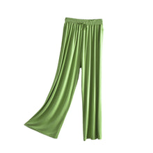 Load image into Gallery viewer, Womens Casual Wide Leg Pajama Bottoms Elastic Waist Straight Pants