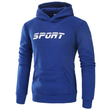 Load image into Gallery viewer, Mens Athletic Logo Hooded Sweatshirt Long Sleeve Outerwear with Pocket