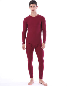 Mens Ultra Soft Thermal Underwear Skiing Lightweight Long Johns Set