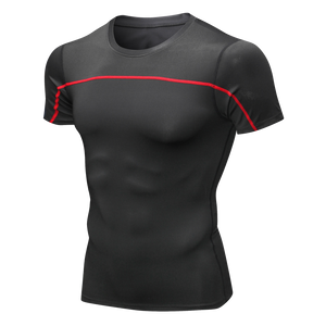 Mens Cool Quick Dry Compression Underwear T-shirts Sports Short Sleeve Tights Outdoor Fitness Shirts