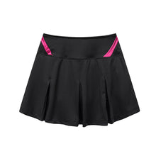 Carregar imagem no visualizador da galeria, Black Athletic Skort for Women Pleated Active Skirt with Shorts&Pocket