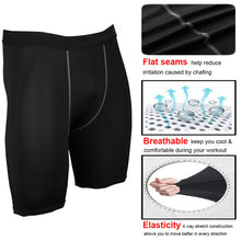Load image into Gallery viewer, Men's Compression Shorts Cool Dry Active Sports Tights Baselayer Pants