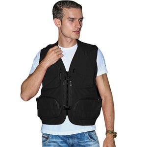 Mens Work Photography Vest Fishing Mesh Gilet Multi-Pockets Waistcoat