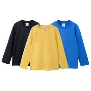 3 Pack Kids Long Sleeve T Shirts Comfort Soft Cotton Tee Top