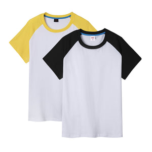 Men Crewneck Short Sleeve Raglan Tee Baseball T-Shirt 2-Pack