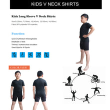 Load image into Gallery viewer, Kids Boy's Sports Base Layer Set Wicking Fitness V Neck & Short 2 PCS