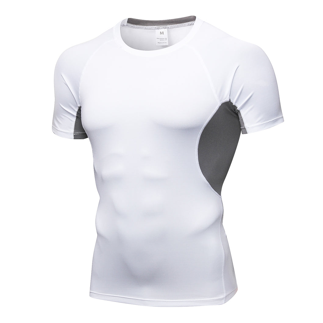 Men Compression Shirt Lightweight Breathable Cool Dry Moisture Wicking Workout Active Shirts