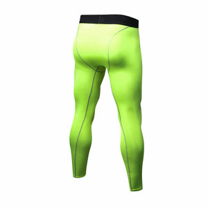 Mens Compression Pants Running Tights Quick Dry Workout Athletic Gym Leggings