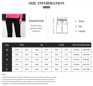 Womens Cotton Jogger With Pockets Drawstring Elastic Waist Sweatpants