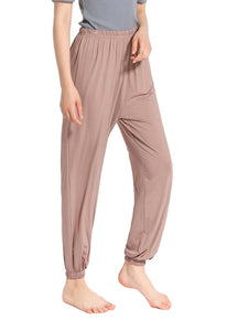 Womens Comfy Pajama Pants Knit Sleep Joggers Lounge Bottoms Strethch Yoga Harem Trousers