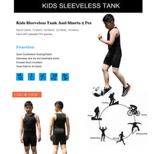 Carregar imagem no visualizador da galeria, Boy's Sleeveless Tank Set Boys Summer Vest & Shorts Wicking Base Layer