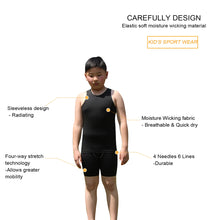 Load image into Gallery viewer, Boy's Sleeveless Tank Set Boys Summer Vest & Shorts Wicking Base Layer