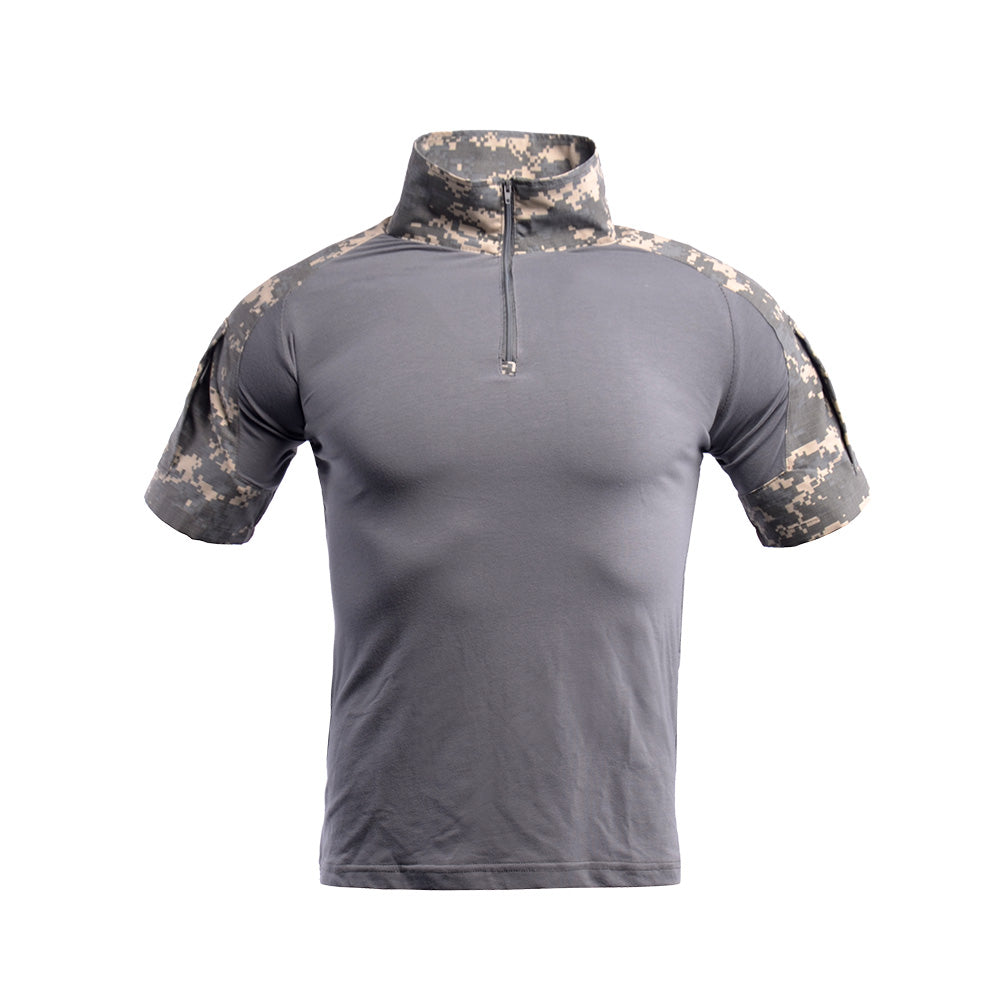 Camo Combat T Shirt Men's Short Sleeve Tactical Shirt Military Army Airsoft Hunting T-Shirts
