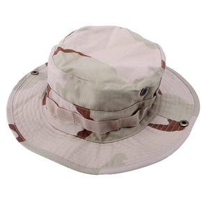 Bonnie Hat Military Boating Snap Brim Hat Camouflage Sun Protection Cap