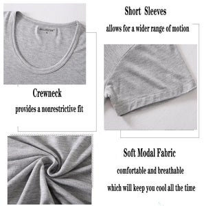 Mens Soft Modal T-Shirts Short Sleeve Casual Tops Lounge Tee Shirts