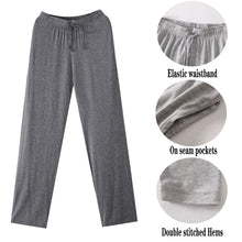 Load image into Gallery viewer, Mens Lounge Sleep Pants Comfort Pajama Bottoms with Pockets Soft Modal Trousers