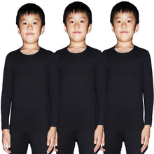 Load image into Gallery viewer, Kids Compression Shirts Fleece Lined, Thermal Long Sleeve Top T Shirts