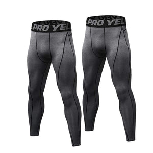 2 Pack Mens Compression Leggings Cool Dry Base Layers Running Tights