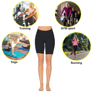 Women High Waist Yoga Shorts Tummy Control Workout Short with Pockets