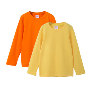 Toddler Kids Ultra Cotton Long Sleeve T-Shirt 2-Pack Solid Crewneck Tops