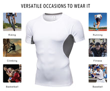 Load image into Gallery viewer, Men Compression Shirt Lightweight Breathable Cool Dry Moisture Wicking Workout Active Shirts