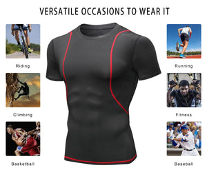 Mens Performance Shirts Moisture Wicking Breathable Quick Dry Lightweight Workout Running Base Layer