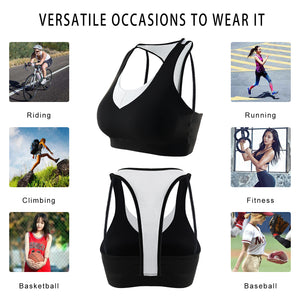 Racerback Sports Bras for Women Mesh Back Breathable Activewear Bra for Yoga Gym Workout Fitness