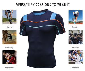 Mens Basketball Compression Shirt Lightweight Breathable Cool Dry Moisture Wicking Workout Active Shirts