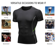 Load image into Gallery viewer, Men Football Compression Shirt Lightweight Breathable Quick-drying Moisture Wicking Workout Shirts
