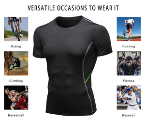 Men Football Compression Shirt Lightweight Breathable Quick-drying Moisture Wicking Workout Shirts