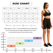 Carregar imagem no visualizador da galeria, Womens Yoga Shorts with Pocket High Waist Workout Running Compression Leggings 7 Inch Inseam Tummy Control Baselayer