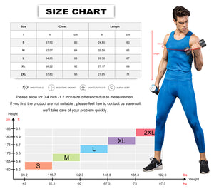 Mens Cool Dry Fit Compression Sleeveless Muscle Tank Tops Workout Base Layer