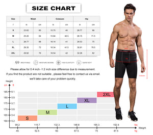 Mens Compression Shorts Quick Dry Running Tights Gym Shorts Sports Underwear
