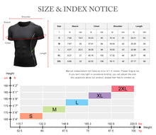 Load image into Gallery viewer, Mens Short Sleeve Compression Workout T-shirt Cool Dry Baselayer Athletic Sports Shirts Active Tops Gym Fitness Shirt