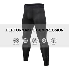 Load image into Gallery viewer, Mens Compression Pants Waist Elastic Ankle Zip Leggings Running Workout Sports Yoga Tights Athletic Activewear Baselayer