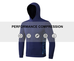 Mens Pullover Hooded Long Sleeve Loose Thermal Hoodie Camo Side Sweatshirt Sports Athletic Active Hoodies with Pocket
