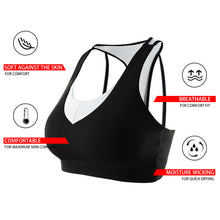 Load image into Gallery viewer, Racerback Sports Bras for Women Mesh Back Breathable Activewear Bra for Yoga Gym Workout Fitness