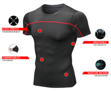 Load image into Gallery viewer, Mens Cool Quick Dry Compression Underwear T-shirts Sports Short Sleeve Tights Outdoor Fitness Shirts