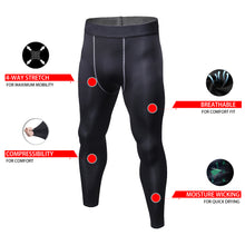 Load image into Gallery viewer, Mens Thermal Compression Tights Sports Leggings Fleece Winter Base Layer
