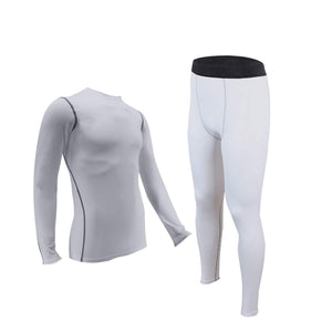 Mens Thermals Underwear Set Wicking Base Layer Crew Neck Long Johns